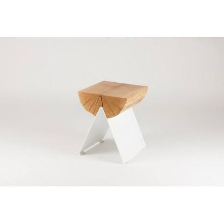 stołek 1/2 biały