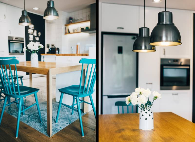wiszące lampy do salonu - inspiracje