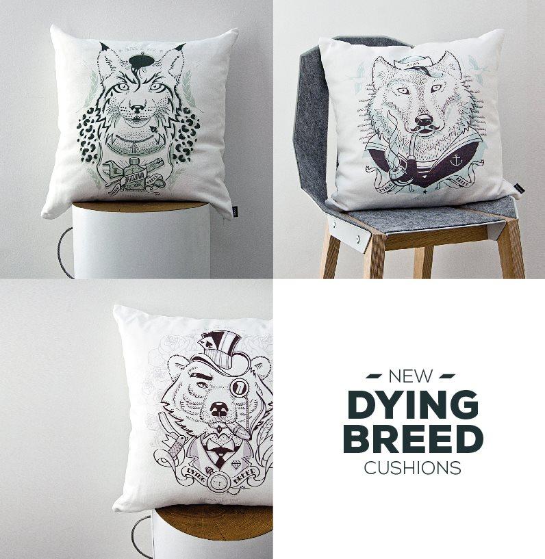 Poduszka dekoracyjna z serii DYING BREED - Ginący Gatunek