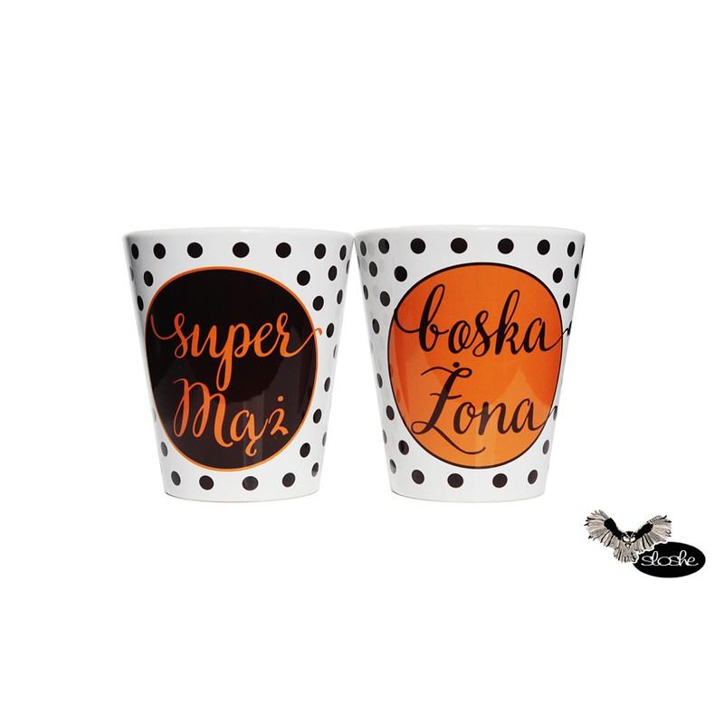 Zestaw małżeński 2 kubków latte