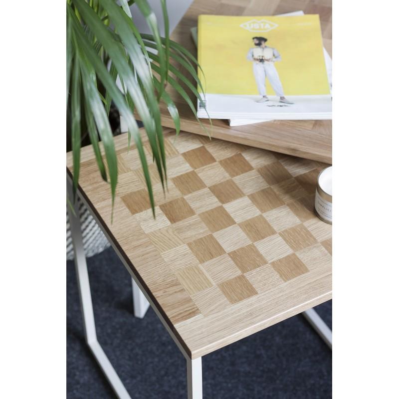 stolik spill - dąb szachownica
