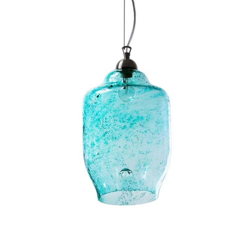 LAMPA wisząca szklana duża