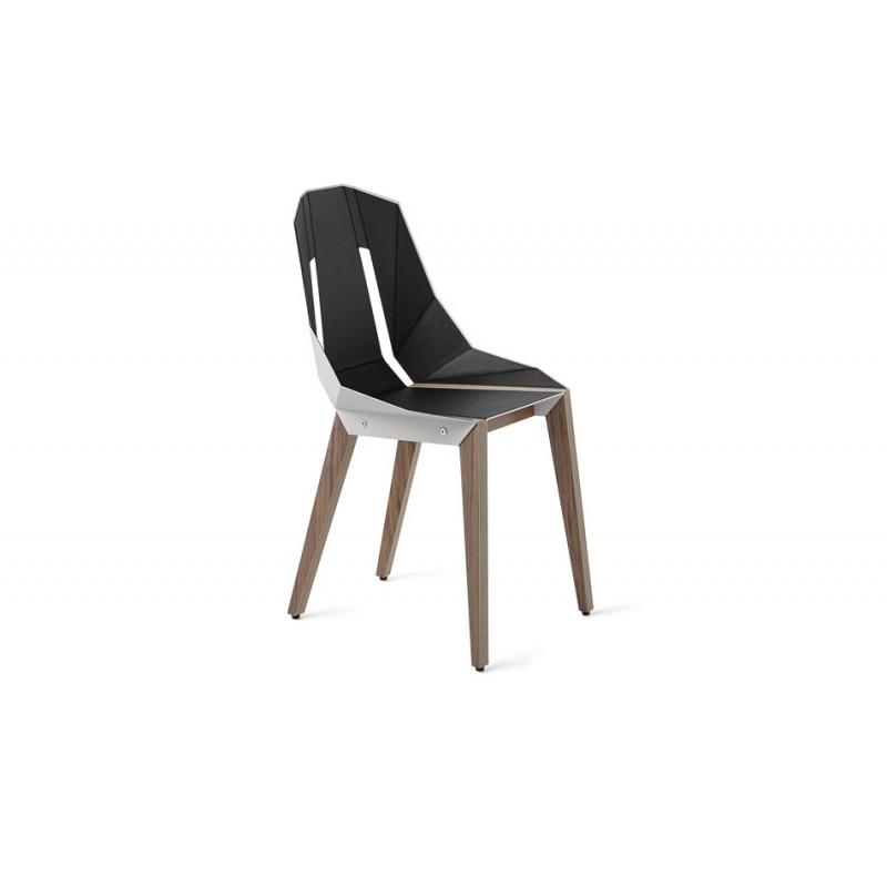 krzesło DIAGO orzech/ ekoskóra