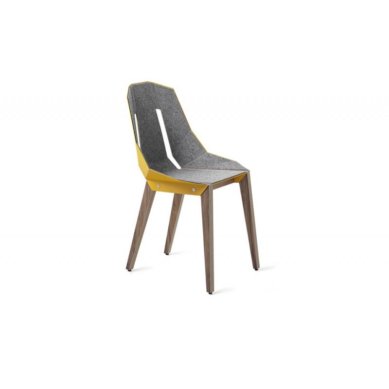 krzesło DIAGO orzech z filcem